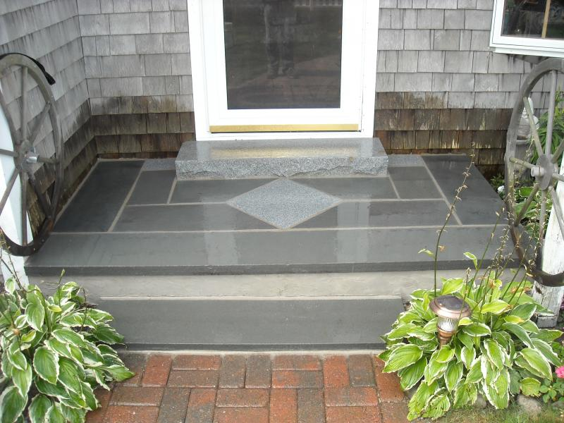 Bluestone and granite entrance way